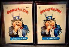 1986 GPK - Snooty Sam & U.S. Arnie - Garbage Pail Kids #110A & #110B 3rd Series