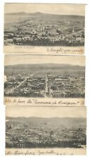 Vintage Panoramic 3 Postcard View of Conception, Chile With 1901 5 Centavo Stamp