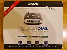 Radar Detector Escort Passport Max International