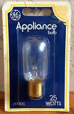 Genuine GE Appliance 25 Watt Bulb 25T8DC 115-125 Volt NEW IN PACKAGE FREE SHIP