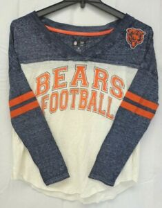 Chicago Bears Women's M GIII Field Position Long Sleeve Tee Shirt 019