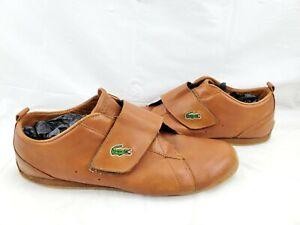 Vintage Lacoste Mens Leather Sneaker 12 Hook and Loop.....RARE...Genuine Lacoste
