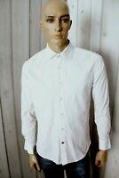 Camicia TOMMY HILFIGER Uomo Shirt Casual Manica Lunga Cotone Chemise Taglia M