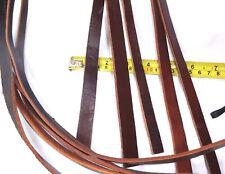 "5 Leather Straps, 45"" Leather Strap, Leather Belt Strap, Cow Hide Straps,Brown"