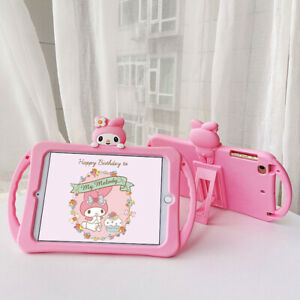 My Melody Handle Taipa Silicon Bracket Plus Lanyard TabletCase For Apple iPad 56
