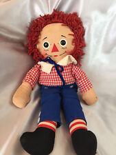 "Vintage Knickerbocker Raggedy Andy Stuffed Doll Dressed 10"" x 15"""