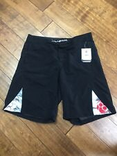 Clinch Gear Crossover Series Mma Shorts Black Size 36 Nwt