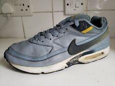 Nike Air Max Clásico Bw UK 10 EU 45 De Cuero Azul/Gris Entrenadores Vintage Raro