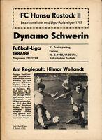 DDR-Liga 87/88 FC Hansa Rostock II - Dynamo Schwerin, 20.05.1988 Hilmar Weilandt