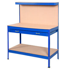 Wood Steel Workbench Tools Table Tool Storage Home Workshop Bench 1256