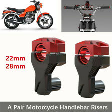 2PCS Motorcycle Faucet Handle Handlebar Risers 22MM 28MM Increase Code Black Red