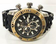 Invicta 13853 50mm Sea Spider Swiss Quartz Chrono Black Rubber Men's Watch New