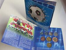 TSCHECHIEN 2004 KMS MÜNZEN SATZ COIN SET ST BU - UEFA FUßBALL EM IN PORTUGAL -