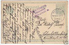 Ganzsache, Ungarn, Michel P46, o, Budapest, 3.12.15, Zensurstempel