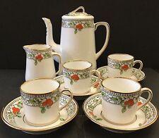 Blyth Porcelain Co.Ltd. Diamond. Art Deco. China 10 piece Coffee Set. c1925-1935