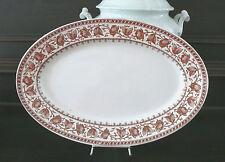 """1 antike Sarreguemines Platte, florales Dekor """"Syra"""", Frankreich, braun"""