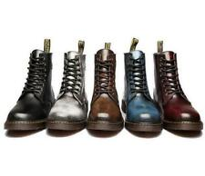 British Men's Lace Up Oxford Retro  Motorcycle Military Ankle Boots Shoes