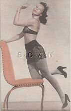 1930s-40s Pin Up- Semi Nude- Vendor Arcade / Mutoscope Card- Lingerie- Stockings