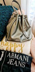 Armani Jeans Bucket Bag In Bronze Rare
