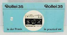 Rare!!   Rolleiflex Rollei 35 Camera Original Instruction manual book