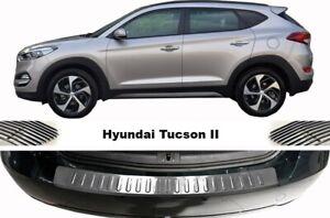 HYUNDAI TUCSON Rear Bumper Protector Guard Sill Chrome S.Steel 2015 Onwards