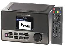 VR Radio WLAN-Internetradio Wecker USB-Ladestation 8 Watt Display Streaming MP3