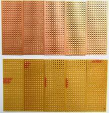 10 X prototipos perforada 25x64mm 9 pistas de electrónica X 25 agujeros Veroboard