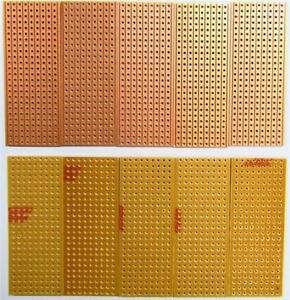 10 x Electronics Prototyping Stripboard 25x64mm 9 Tracks x 25 Holes Veroboard