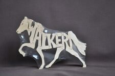 New listing Tennessee Walker Walking Horse Wood Puzzle Tack Room Toy Made in Usa Figurine