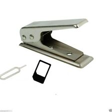 New Micro/Standard to Nano SIM Card Cutter For Apple iPhone 4 5 6 + Adapters