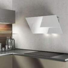 60cm Touch Control Angled Wall Mounted Cooker Hood - Airforce F203 - White Glass