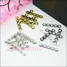 120Pcs 5-Holes Spacer Wave Bar 3x17mm Silver,Gold,Dull Silver R0133