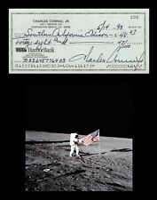 CHARLES PETE CONRAD Autographed Signed Check  NASA  3rd Man to Walk On The Moon