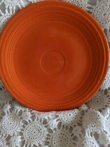 Genuine Fiesta Dinner Plate 9.5 Orange Vintage Made USA