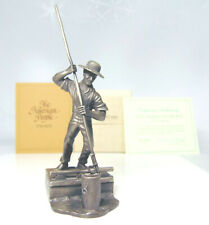 Pewter Eire CANAL Tow BOAT MAN FIGURE 'Canawler' Franklin Mint American People!
