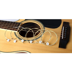 ACOUSTIC GUITAR STRINGS SET OF 6 HIGH QUALITY STRINGS /