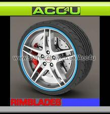Rimblades BLUE Car 4x4 Van Alloy Wheel Rim Edge Lip Protectors Styling Strip Kit