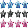 """13th-80th 20"""" star aged foil birthday party balloons helium/air quality 3colours"""