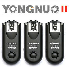 3pcs Yongnuo RF-603II for Canon wireless Transceivers C1 Cable Canon 70D 60D 80D