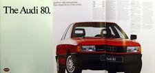 Audi 80 Mk 4 1987/88 Original UK Market Sales Brochure No. 720/1195.23.25
