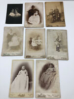 8 Antique Cabinet Photo Photograph Victorian Women Baby Mother Child Infant