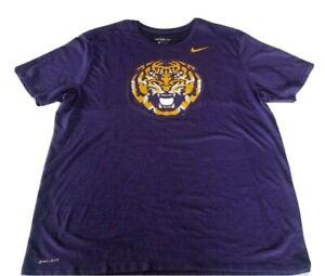 LSU Tigers Nike Vintage Logo Mens Purple T Shirt Sz 2XL
