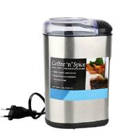 Stainless Steel Electric Coffee Beans Grinder Maker Multi-Function Household New