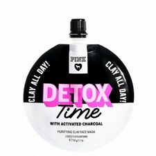 2 Victoria's Secret PINK Detox Time Activated Charcoal Clay Face Mask 1.7oz New