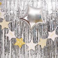 1m*2m Metallic Fringe Curtain Party Foil Tinsel Door Room Wholesale Wedding CL