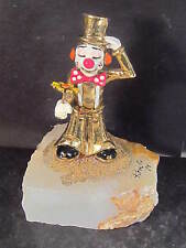 Ron Lee Hobo Clown 1979 DARBY CLOWN HOLDING YELLOW FLOWER