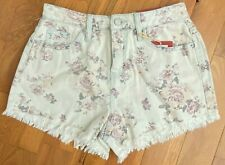 NWT Mossimo Supply Rosey Wash Floral HIGH RISE Denim Jean Short Shorts Womens 6