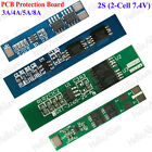 3A-8A PCB BMS Protection Board for 2 Packs 18650 Li-ion lithium Battery Cell 2S