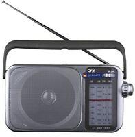 QFX R24 Portable AM FM SW1 SW2 Radio Silver [New Misc] Silver