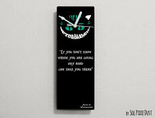 Cheshire Cat - If you don't know where you are going any road ...- Wall Clock